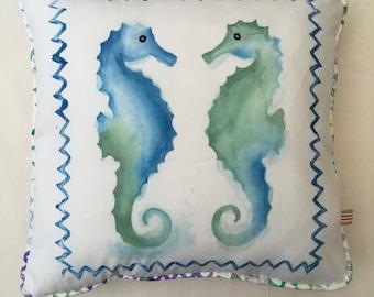 Seahorse couple cushion