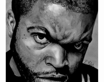 Ice Cube Pencil and Ink Drawing