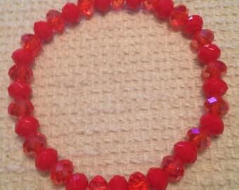 Fraise (Red Handmade Beaded Bracelet)