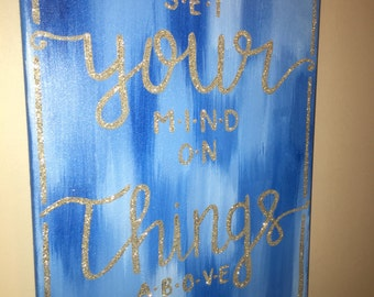 Set your mind on things above Wall Art Hand-painted Canvas Home Decor