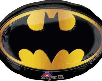 """Batman Party Balloon-26"""" Balloon- Super hero Balloon- Batman Party Theme"""