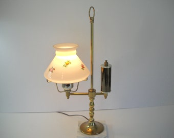 Electric Lamp with Marble Base