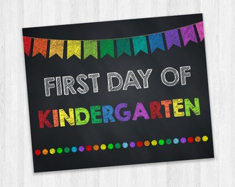 First Day Of Kindergarten Sign, Grade School Signs, Kids Photo Prop, Starting School, Back To School Signs, First Day Of School