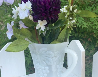 Anchor hocking milk glass pitcher