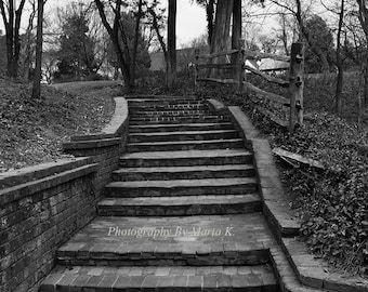 Landscape Photography - Black and White Photography - Staircase to the Unknown