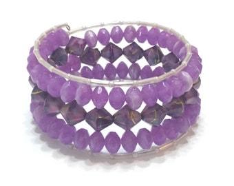 Purple spiral bangle