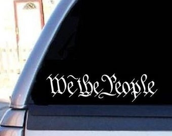 We The People Decal Sticker 22 color options