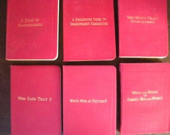36 Volumnes, George Routledge Miniature Reference Library