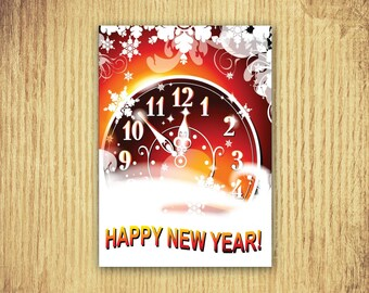 Counting Down ~ New Years Card ~ 5 x 7 ~ Digital Download Only