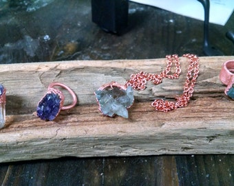 Gemstone necklass and Rings
