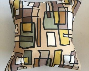 Bright Lights Big City Decorative Pillow-12x12-Throw Pillow-Pillow Cover-Neutral-Interior-Design-Fabric-Art-Decorating-Home Decor