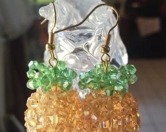 Beautiful Beaded Pineapple Earrings