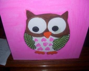 Children's Owl Painting