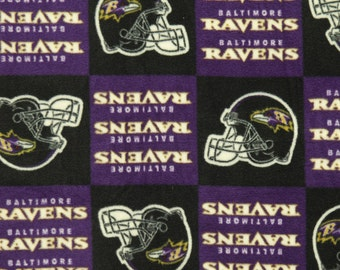 NFL Baltimore Ravens Fleece V3 Fabric by the yard