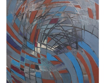 "Handmade acrylic painting ""Spirals"""
