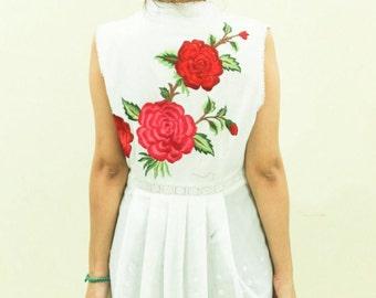 White cotton dress tunic