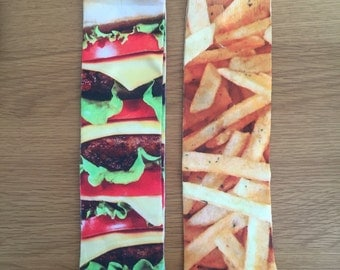 Cheeseburger & Fries Ankle Socks-  you can either mix n match or buy same pair kitsch kitschmas present sectet santa