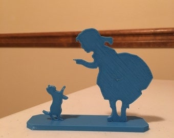 3D print Girl and Cat