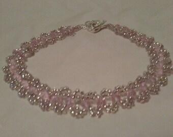 Light Pink Crystal Anklet