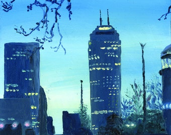 Chase Tower Oil Painting