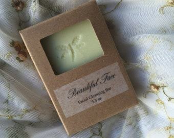 Beautiful Face Gentle Cleansing Bar with included exfoliating pad
