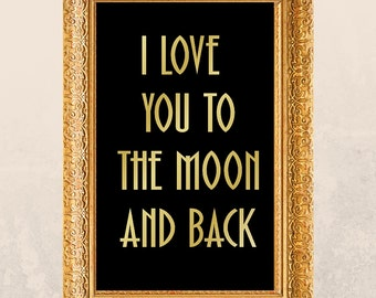 Printable I love you to the moon and back PDF