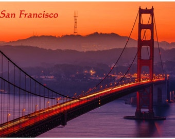 Good to know Fridge Magnet GOLDEN GATE Bridge San Francisco Photo Educational Vinyl FREE Shipping