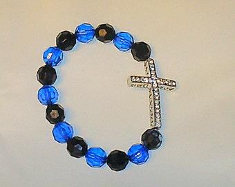Crystal Cross - Black/Blue