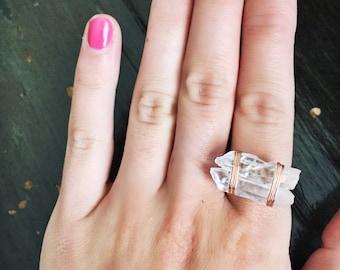 Handmade Wired Quartz Ring