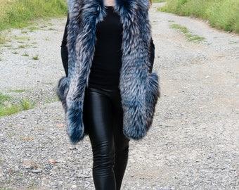 FOX FUR  vest- RENARD