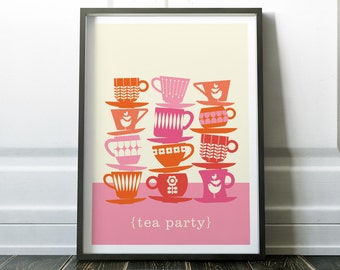 Kitchen Print, Tea Print, Kitchen Wall Art, Kitchen Art, Modern Kitchen Print, Digital Print, Modern Art, Kitchen Art Print, Wall Art Prints