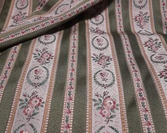 Biedermeier fabric in green, 2.50 m x 1.35 m