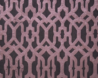 Upholstery/Drapery Cut Velvet Fabric Beaumont 101 Amethyst By The Yard