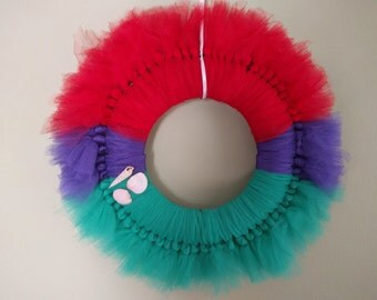 Ariel Inspired Tulle Wreath
