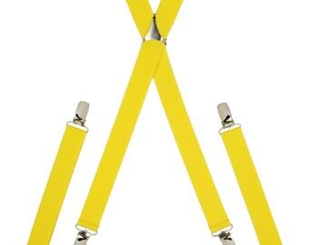Plain Yellow Skinny Braces