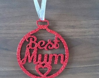 Best Mum Christmas Bauble
