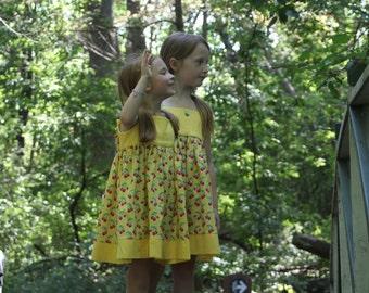 Yellow cherry dress