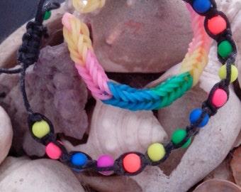 Multicolor friendly - Friendly multicolored bracelets bracelets