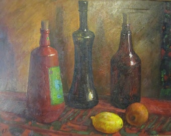 Original oil painting oil on canvas - Free shipping -  still life impressionism