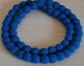 Blue crochet necklace/bracelet