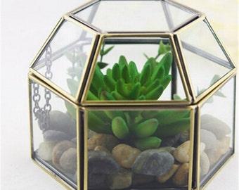 Geometric Brass Terrarium /Jewelry Holder / CatchAll