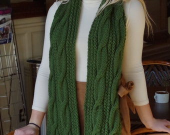 Cable Knitted Scarf/Fall Fashion