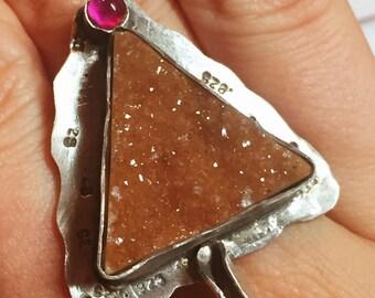 Sparkly Druzy Stone Ring