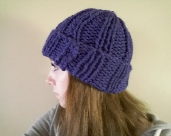 Knit Ribbed Hat