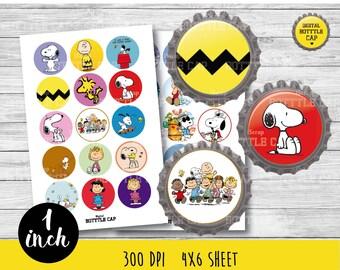 50% OFF SALE  Charlie Brown Bottlecap,Charlie Brown 1 inch,disney planner,full boxes,eclp disney,Snoopy 1 inch,Snoopy bottlacap-COD42