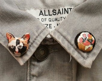 Cat collar pins/ Collar pins/ Kitty paws/ Cat brooch/ Cute cat pins/Earings / Brooch/ I like cat/ Unique gifts