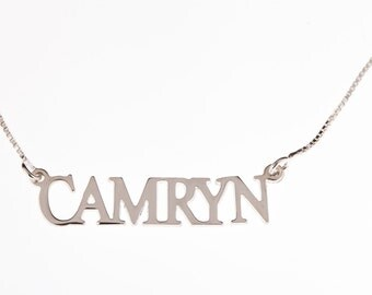 925 sterling silver name necklace personalized gift and souvenir Olga 1.2. MM
