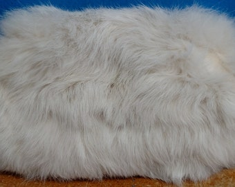 Vintage 1940's Little Girl's White Rabbit Fur Hand Muff