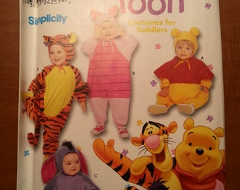 Simplicity 9378 Costume Winnie the Pooh Size 1/2-4