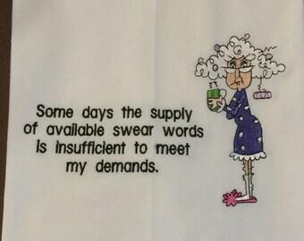 Funny Kitchen towel - humorous grandma
